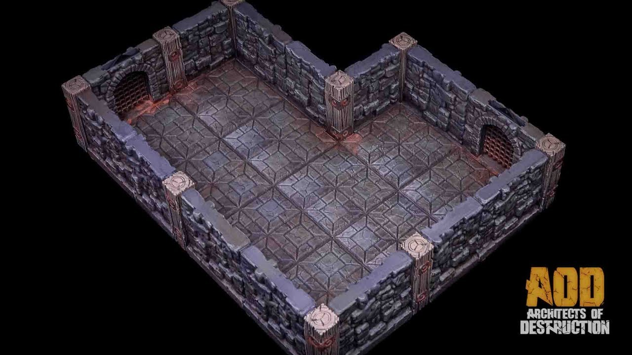 Rampage Dungeon Small Painting Tutorial by Lester Bursley