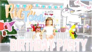 Rich Teen Birthday party ♡    Roblox Bloxburg    Fleurielle