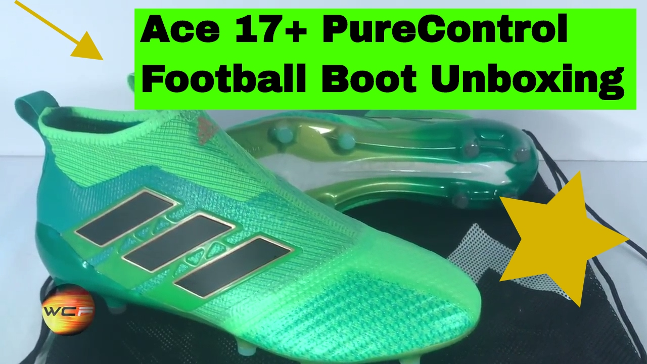 c40ea5b19 Adidas TurboCharge Ace 17+ PureControl Boot Unboxing Review MAY 2017 -  GREEN ADIDAS CLEATS!!!