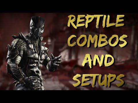 MKX:Reptile Combos & Setups(32-87%)