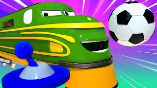 Troy le Train -  Spécial FIFA Coupe du Monde- le jeu vidéo de la FIFA - La Ville des Voitures 🚓 🚒...