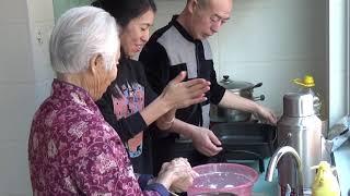 Китайская кухня. Лепешки с красными соевыми бобами