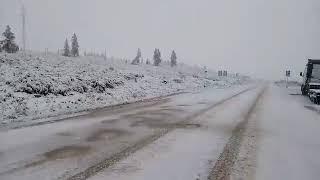 В Окинском районе Бурятии в июле выпал снег