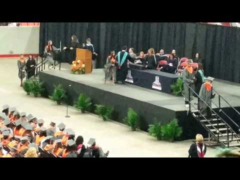 Lizz getting her diploma