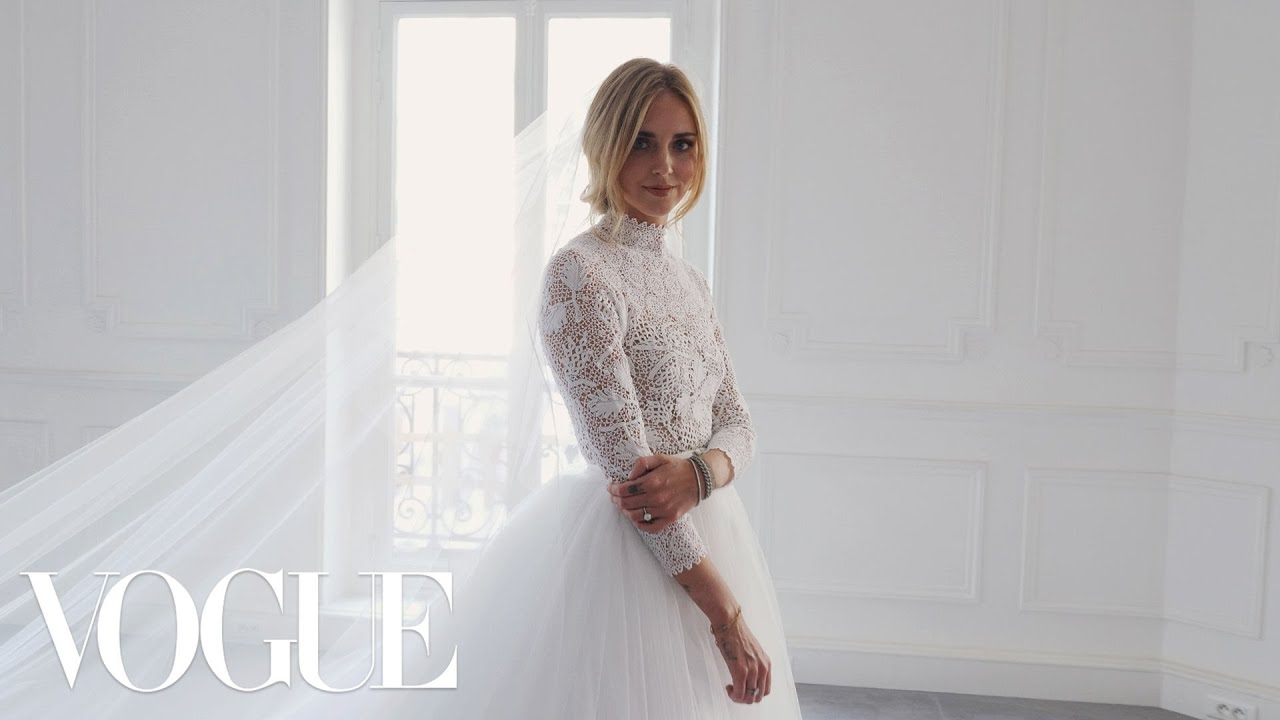 Chiara Ferragnis Wedding Dress Fitting  Vogue  YouTube