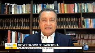 Governador Rui Costa se emociona na Rede Bahia