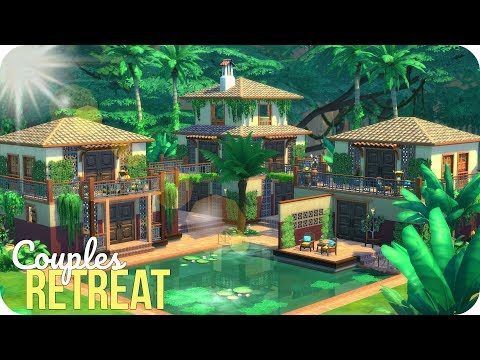 COUPLES RETREAT 🌴 | Sims 4 Jungle Adventure Speed Build