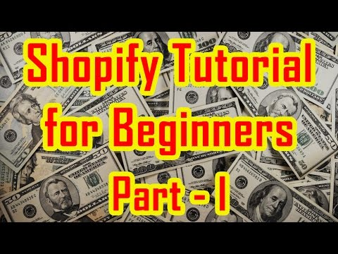 Shopify Tutorial for Beginners | How to create a Shopify Store - Part 1 thumbnail