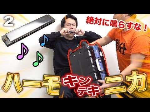 絶対鳴らしてはいけないキンテキハーモニカがめちゃめちゃ面白かった!!Attack On Between Legs Harmonica Pain Challenge