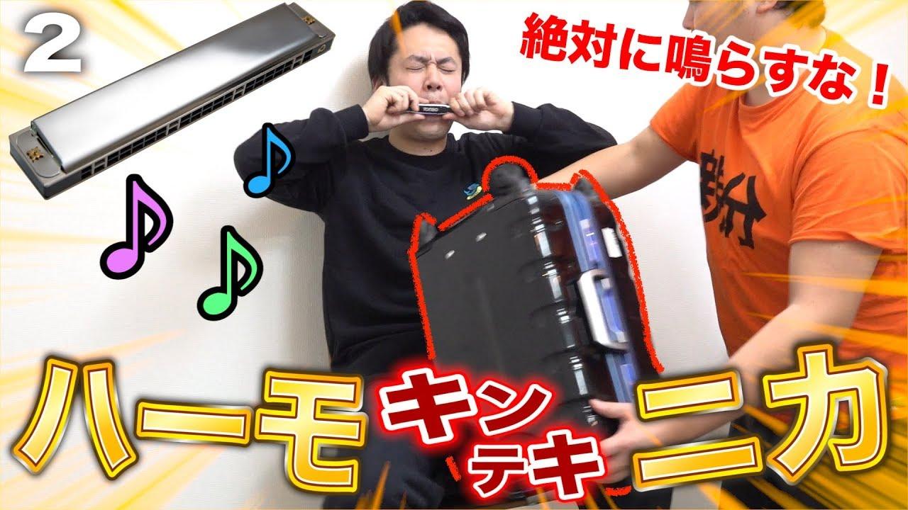 Download 絶対鳴らしてはいけないキンテキハーモニカがめちゃめちゃ面白かった!!Attack on between legs harmonica pain challenge