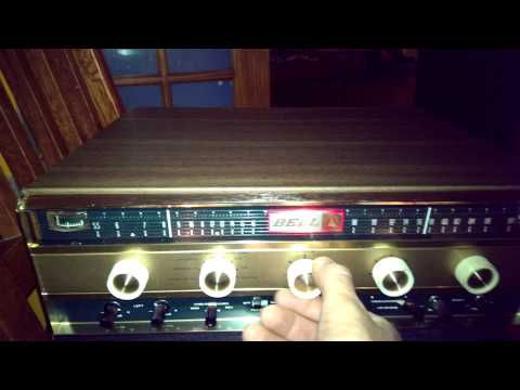 Vintage BELL 2445 Stereo Receiver/Amp Demonstratio