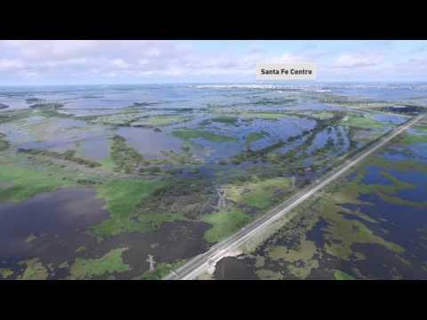 Así se ve la crecida del Paraná desde el aire