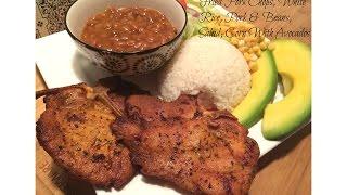 Puerto Rican Style Pork Chops (chuletas Frita Estilo Boricua)