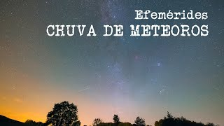 Astrolab | Efemérides, chuva de meteoros