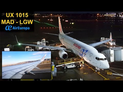 TRIP REPORT | Air Europa | MADRID - LONDRES GATWICK | Boeing 737 AEA Interior