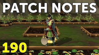 RuneScape Patch Notes #190 - 9th October 2017