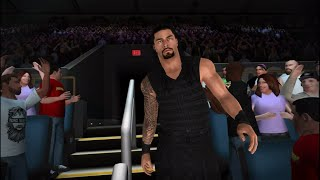 WWE 2K Gameplay: Roman Reigns Entrance, Roman Reigns vs Big Show (WWE 2K ios)