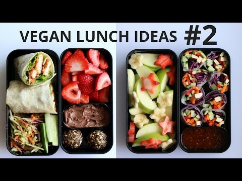 VEGAN SCHOOL LUNCH IDEAS PART 2 (wraps, noodles, spring rolls)