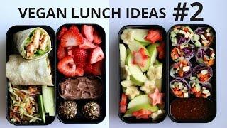 VEGAN SCHOOL LUNCH IDEAS PART 2 (wraps, noodles, spring rolls)