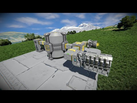 Space Engineers - How to Build a Functioning Hydrogen System and Ship - Beginners Guide - Remade