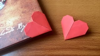 DIY Heart Bookmarks Tutorial | How To Make Bookmarks | How To Craft - Anushree's Craft TV