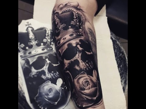 Skull With Crown Tattoos Youtube