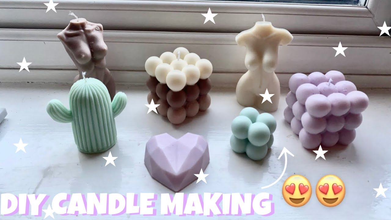 CANDLE MAKING FOR BEGINNERS | USING SOY WAX, BUBBLE CANDLE MOULDS, FEMALE BODY CANDLES & MORE!!