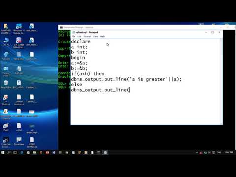 PL/SQL Hello World Program | how to run PL SQL program
