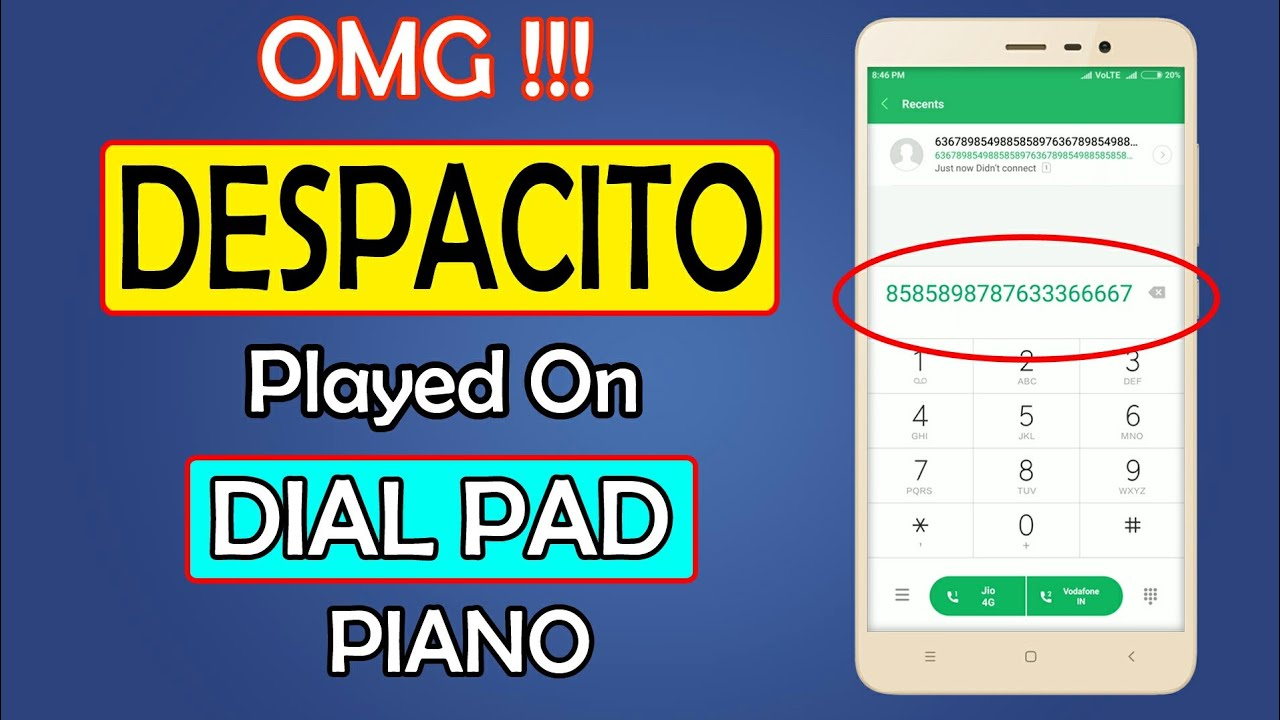 OMG !!! Despacito & Happy Birthday Song Played on Dial Pad ( Piano ) || Logical Window || 2018 ...