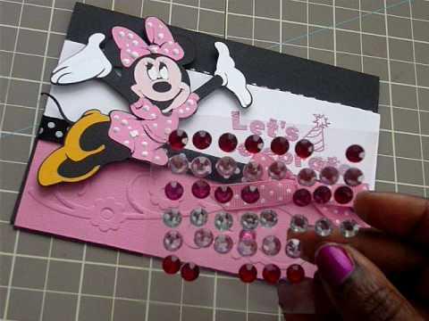Cricut Disney Minnie Mouse Card Pt 2 YouTube