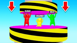 SURVIVE The HYDRAULIC PRESS Or LOSE! (Gang Beasts)