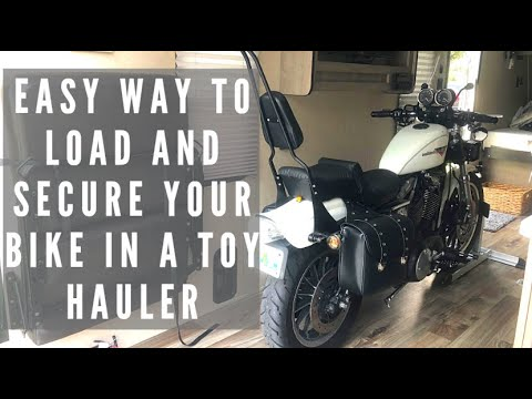 RV Upgrade | Condor Pit-Stop In Our Toy Hauler Pt.2- Loading The Bike