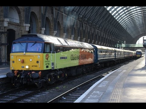 (HD) GBRf 66742 + Colas 47749 on 'ABP Private Staff Charter' @ KGX & FPK 25/11/2017