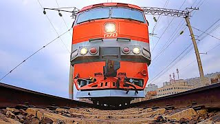 Railway. Camera Under Train. Kim Jong Un Runs Over My Camera. Under Armored Train Kim Jong Un