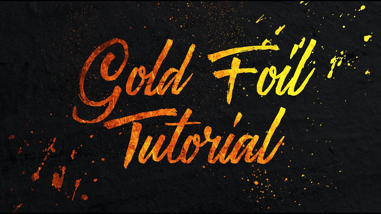 How to add a gold foil texture to text in photoshop youtube ccuart Choice Image