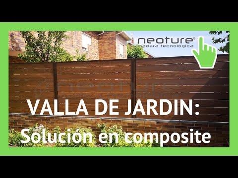 Instalacion cerramiento de madera composite para jardin for Celosia de madera para jardin