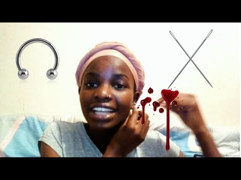 STORY TIME: HOW I DID MY PIERCINGS AT HOME  | KENYAN YOUTUBER