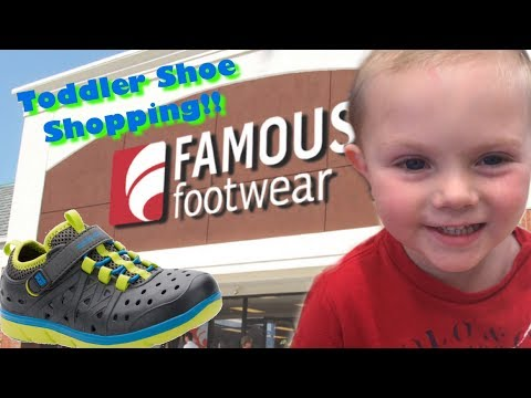 SHOE SHOPPING W/ A TODDLER! STRIDE-RITE MADE 2 PLAY PHIBIAN SNEAKER SANDALS! BEST TODDLER CHANNEL!