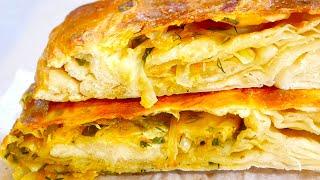 КАТЛАМА - Обалденная Лепешка с Луком в духовке из минимума продуктов! Рецепт слоистой каталамы