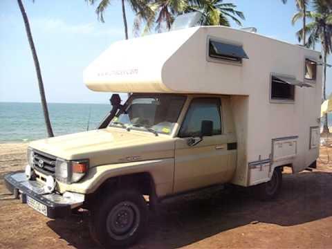 camping car cellule sur toyota hzj79 vue ext rieure youtube. Black Bedroom Furniture Sets. Home Design Ideas