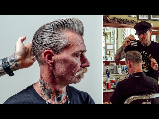 HOW TO CUT: THE MR. WHITE SILVER FOX POMPADOUR
