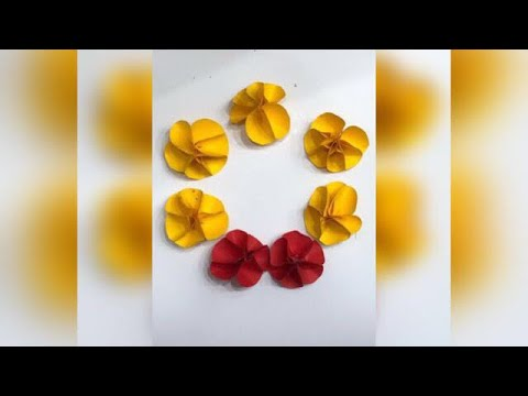 Paper Flowers | Very Easy and Simple Paper Crafts Simple Art / Easy paper Crafts - Zaana 06