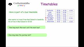 Timetables - Primary