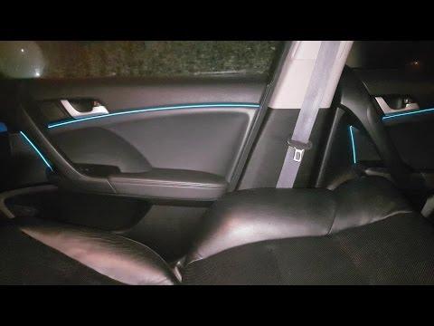 Подсветка салона Хонда аккорд 8. Неоновая подсветка из китая