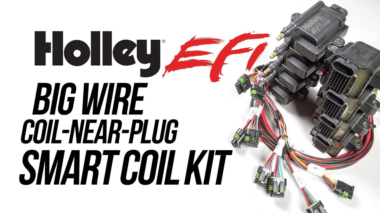Holley EFI Big Wire Coil-Near-Plug Smart Coil Kit on