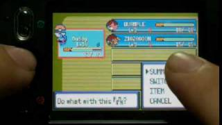 Moto A1200 playing Pokemon Emerald