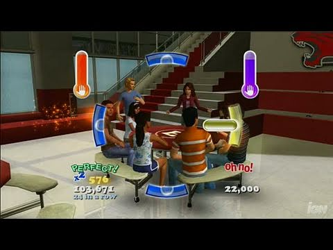 High School Musical 3: Senior Year Dance (Dance Pad Bundle) Xbox 360 Gameplay - Status Quo