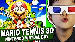 MARIO TENNIS 3D - Nintendo Virtual Boy - Gameplay Comentado em Português