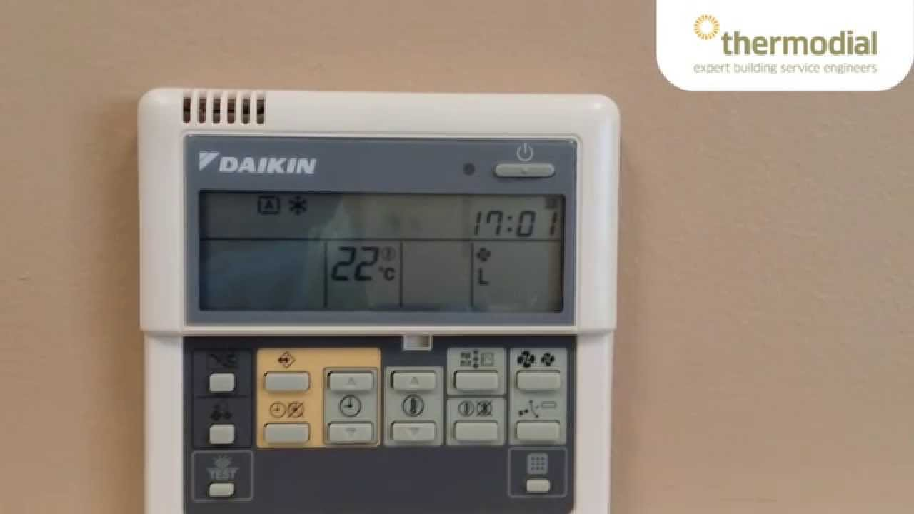 How To Change The Time And Day On A Daikin Air