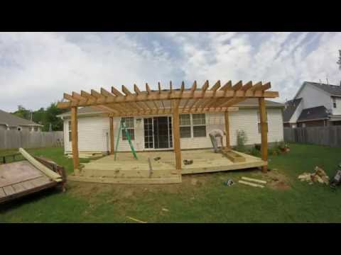 How to build a pergola doovi for Deck builders fayetteville ar
